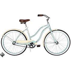 Huffy Women's Cranbrook Cruiser/Comfort Bike, Mint Green- I really want this! Cruiser Bicycle, Bicycle Women, Kids Bike, Vintage Bicycles, Mint Green, Walmart, Basket, Wheels, Biking