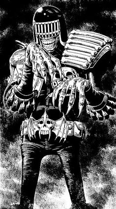 Judge Death  The Ultime Super Vilain....  Art : Brian Bolland