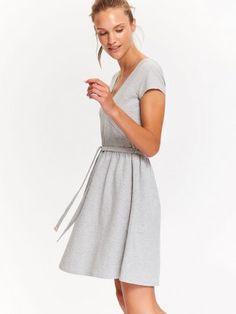 SUKIENKA DAMSKA GŁADKA Dresses For Work, Chanel, Fashion, Moda, Fashion Styles, Fashion Illustrations