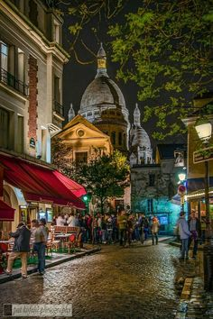 Churches are built in the old style like the Place du Tertre, Montmartre - Paris, France. Montmartre Paris, Paris Paris, Paris City, Paris Travel, France Travel, The Places Youll Go, Places To See, Paris France, Wonderful Places