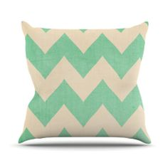 "Catherine McDonald ""Malibu"" Throw Pillow.  ..can totally use fabric paint!"
