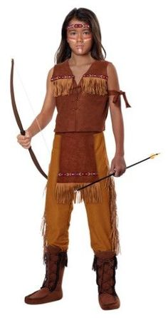Classic Indian Boy Kids Costume, Size: XL, Brown