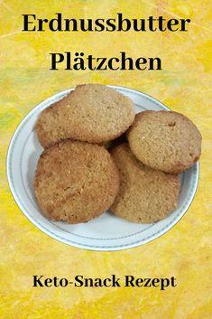 Erdnussbutter Plätzchen Low Carb Rezept - Keto Erfahrung   #keto #ketose #lowcarb #ketodiät #ketogenediät Sweet Potato, Banana Bread, Sweet Tooth, Food And Drink, Potatoes, Cookies, Vegetables, Keto Desserts, Snacks