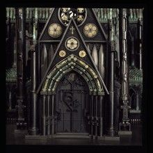 Cathedral by Al Farrow The Spine and Tooth of Santo Guerro  Bullets, Guns, Glass, Shot, Steel, Bone, Antique Textile.