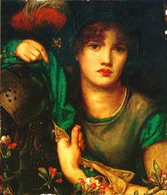 My Lady Greensleeves, 1863, Dante Gabriel Rossetti Size: 27.31x33.02 cm Medium: oil, canvas