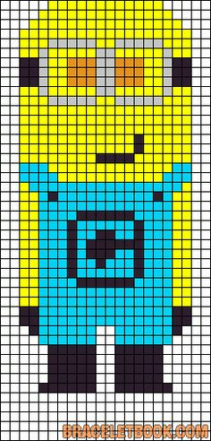 Despicable Me Minion perler bead pattern