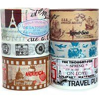 Travel Vacation Themed Washi Tape