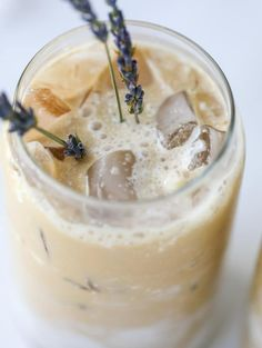 This lavender latte is a spring dream come true! It starts with a homemade lavender vanilla syrup that is super flavorful and can be use in cocktails too! The espresso and milk make for the creamiest, dreamiest coffee ever! Tea Recipes, Coffee Recipes, Cooking Recipes, Recipies, Yummy Drinks, Healthy Drinks, Yummy Food, Tasty, Think Food