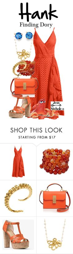 """""""Hank"""" by jess-nichole ❤ liked on Polyvore featuring Trina Turk, Disney Pixar Finding Dory, Kenneth Jay Lane, Flynn, MICHAEL Michael Kors, Luxe Group and Kate Spade"""