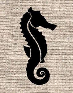 Seahorse Stencil by CutItOutStencil on Etsy, $12.00