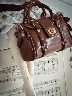 BJD handbag  miniature doll purse   travel bag by lapupadollmarket, $22.00
