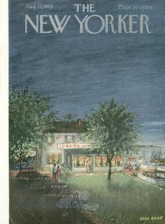 The New Yorker - Saturday, August 13, 1955 - Issue # 1591 - Vol. 31 - N° 26 - Cover by : Edna Eicke