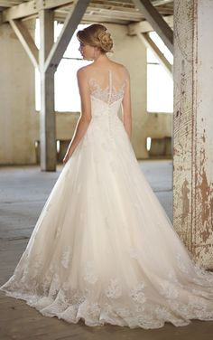 lace natural waist wedding gown illusion | dress,2012 Bridal Wedding Gown…