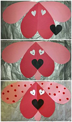 Cute Dog Valentines Day Craft For Kids #Valentines card idea #DIY art project