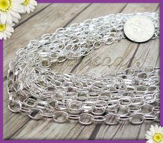 1.5mm Wide SM SunniMix 10 Yards Multipurpose Silver Stainless Steel Beads DIY Jewelry Making Chains Findings Accessories 2mm Wide