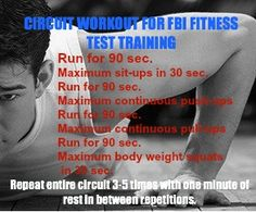 FBI circuit workout we actually do this in training so it's good for people to know if that's what they want to do Fbi Training, Police Academy Training, Police Officer Training, Training Workouts, Circuit Training, Cardio Workouts, Hiit, Police Test, Law Enforcement Jobs