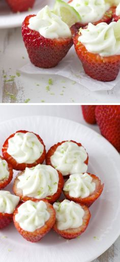 Key Lime Pie Stuffed Strawberries | Click Pic for 22 DIY Summer Wedding Ideas on a Budget | DIY Garden Wedding Ideas on a Budget