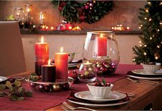 PartyLite Home Decor. Create a festive table for EVERY occasion with these versatile pieces. This one is set up with the holidays in mind. #EndlessPossibilities