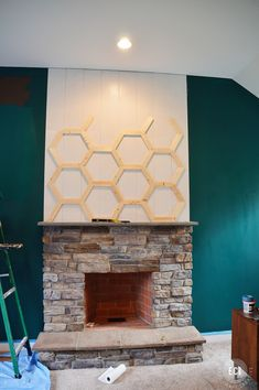 Mid-Century Modern Fireplace Update