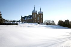Mary's Church in Wilno, ON. This is a gorgeous church and one of my favorites to shoot weddings! The church is set high on the hill with a beautiful view of the valley. Ottawa Valley, World Religions, Place Of Worship, Ontario, Catholic, Canada, Snow, Spaces, Weddings
