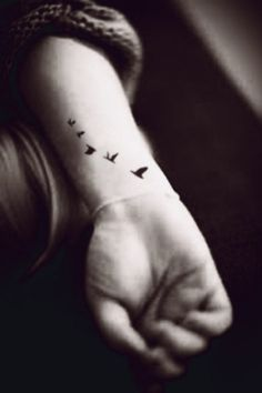 5pcs Small Flying Birds Swallow Tattoo  InknArt by InknArt on Etsy, $4.49