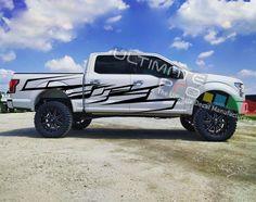 Full Kit Body Stripe Kit Sticker Graphic Decal Vinyl for Fort Raptor 2012 2013 2014 2015 2016 2018 Custom Wrap Ford Emblem, Toyota Tacoma Trd Sport, Chevy S10, Custom Wraps, Jeep Wrangler Rubicon, Colour List, Sticker Design, Ford Mustang, 4x4