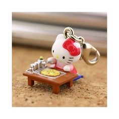 Sanrio Gotouchi Hello Kitty Japan Area Limited Monjya-yaki  charm