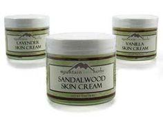 Lavender Skin Cream $14.50 and Sandalwood Skin Cream $16, Mountain Rose Herbs