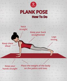 The ( is the ultimate strengthener of the shoulder, core tightener and leg lifter. Learn Plank pose steps, benefits Precautions, and Suggestions. Learn Yoga, How To Do Yoga, Yoga Asanas Names, How To Do Planks, Yoga Transformation, Yoga For Balance, Plank Pose, Yoga Mantras, Yoga Poses For Beginners