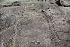 Archaeologists have discovered an impressive Viking magnate's residence at Tissø, in West Zealand, with an associated market place and several cult sites located in the surrounding landscape. Excavation of the 500 m2 great hall at Tissø. Traces of the sturdy timbers that the hall was built from show as dark patches in the light natural subsoil.