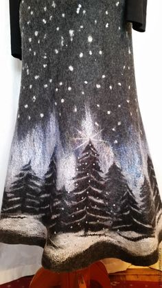 """Купить Юбка валяная, зимняя. """"Новый год"""" - юбка валяная, юбка зимняя, юбка длинная"""