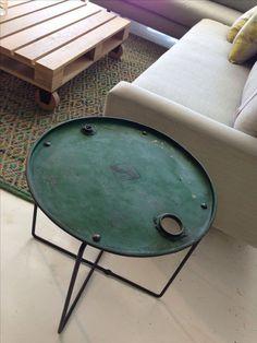 tavolino ferro riciclato replica. 100% italy. fatto a mano artigiani locali