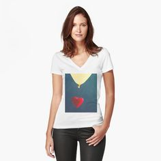 """""""Happy Valentine's Day, Lover's Day """" Women's Fitted V-Neck T-Shirt by sabahi4u   Redbubble"""