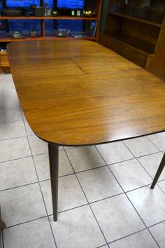 Mid Century Modern Dining Table In Solid Walnut