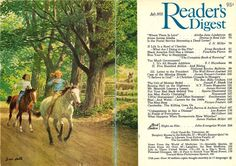 illustrations on the back of readers digest | Reader's Digest front and back cover, July 1978 ...