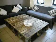 Pallets Pallet Furniture And Decor, Recycled Furniture, Recycled Pallets, Wooden Pallets, Pallet Crafts, Rooms Home Decor, Table, Diy, Furnitures