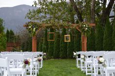 Wedding arbor - Gifford Florist Cape Horn Estate Wedding venue Vancouver WA - Portland OR