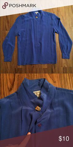 🔥SALE🔥 Women's Anne Klein blue blouse Beautiful blue pleated blouse Anne Klein Tops Blouses