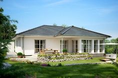 Home Building Design, Building A House, House Design, Bungalows, Belgian Style, Bungalow Homes, Outdoor Living, Outdoor Decor, French Farmhouse