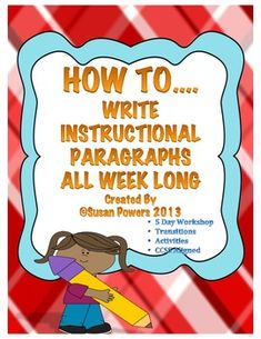 This 23 page,CCSS ELA aligned, reproducible packet has a week of lesson plans and activities designed as a writers workshop. The children will go through the process of instructional writing or How To. There are hilarious hands 4th Grade Writing, Work On Writing, Teaching Writing, Writing Activities, Learning Resources, Teaching Tools, Teacher Resources, Writing Ideas, Fourth Grade