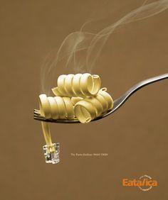 Pasta Hotline by Sharad Haksar, via Behance |