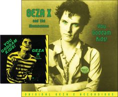 Geza X put out this LP in the early '80s (inset), and I designed a CD reissue in the 2000s. The LP cover was tweaked for that reissue, too. Geza himself sent me a note telling me how much he liked the CD cover.