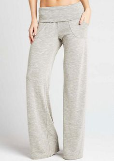"Marled Lounge Pant - Loungewear - Clothing - Alloy Apparel - Size S - 37"" - Charcoal Gray"