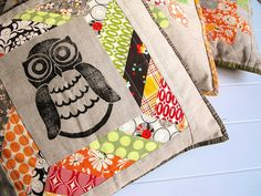 Owl quilted pillows-i love these