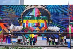 Days before the Olympics began in Rio de Janeiro, Brazilian street artistEduardo Kobradecided to set his own world record for the largest mural