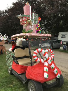 christmas in july at strawberry park christmas in july beach christmas christmas decorations - Golf Cart Christmas Decorations