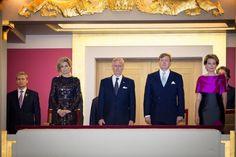 Dutch Royals and Belgian Royals Attend EU Opening Concert