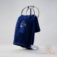 Doctor Who TARDIS Inspired - Embroidered Hand Towel. $13.00, via Etsy.