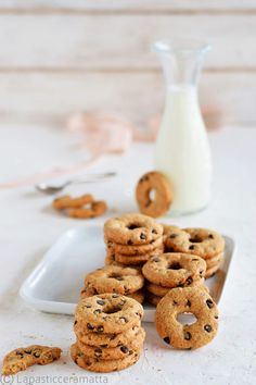 Healthy Dessert Recipes, Sweet Desserts, Sweet Recipes, Cookie Recipes, Biscotti Cookies, Italian Cake, Bakery, Good Food, Food And Drink