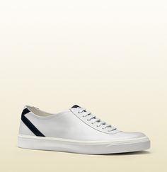 c8f2f68081619f Gucci leather lace up sneaker. Simply Classic. Leather And Lace